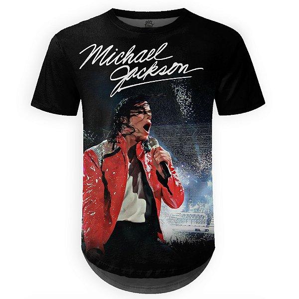 Camiseta Masculina Longline Michael Jackson md01