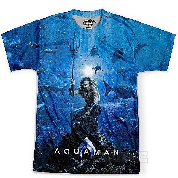 Camiseta Masculina Aquaman MD02 Estampa Digital