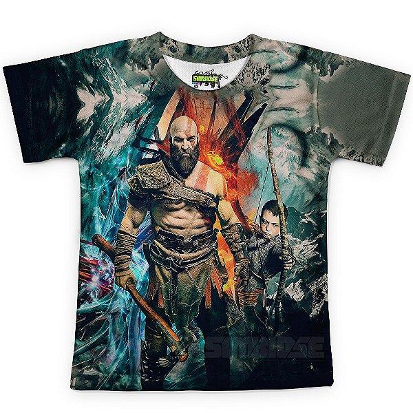 Camiseta Infantil God Of War Estampa Digital Md05