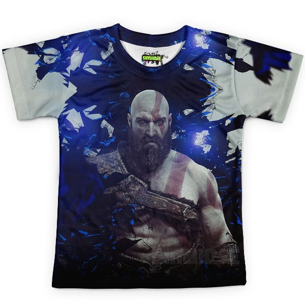 Camiseta Infantil God Of War Estampa Digital Md04