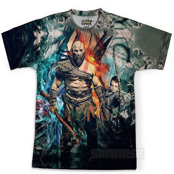 Camiseta Masculina God Of War Estampa Digital Md05