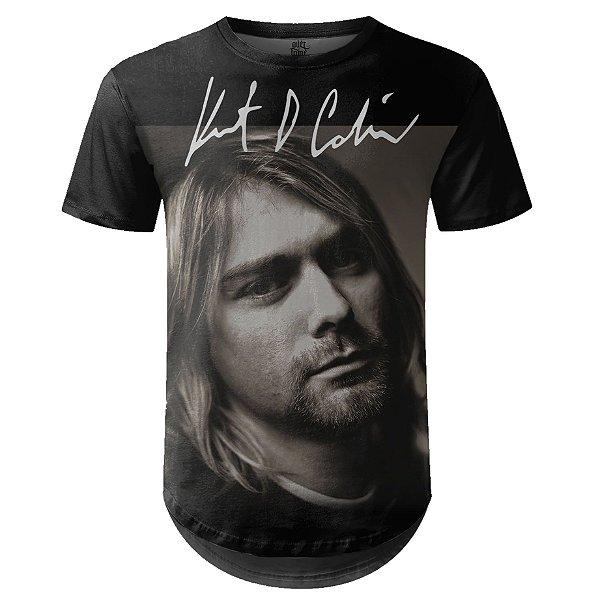 Camiseta Masculina Longline Nirvana Estampa digital md06