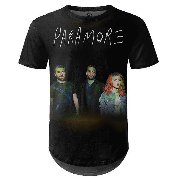 Camiseta Masculina Longline Paramore Estampa digital md01
