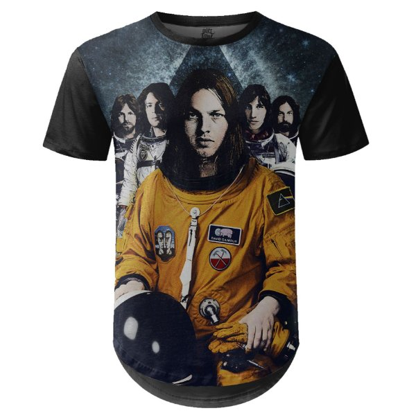 Camiseta Masculina Longline Pink Floyd Estampa digital md03