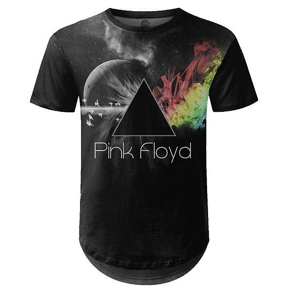 Camiseta Masculina Longline Pink Floyd Estampa digital md04