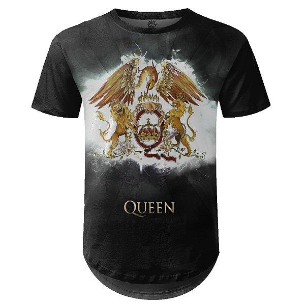 Camiseta Masculina Longline Queen Estampa digital md02