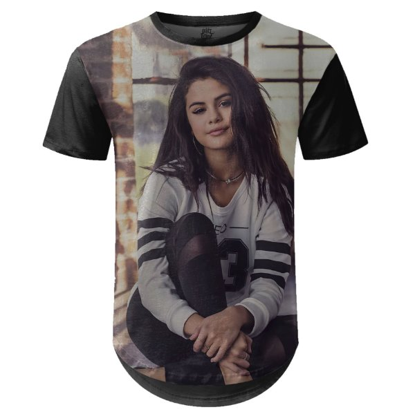 Camiseta Masculina Longline Selena Gomez md02