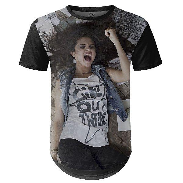 Camiseta Masculina Longline Selena Gomez md03