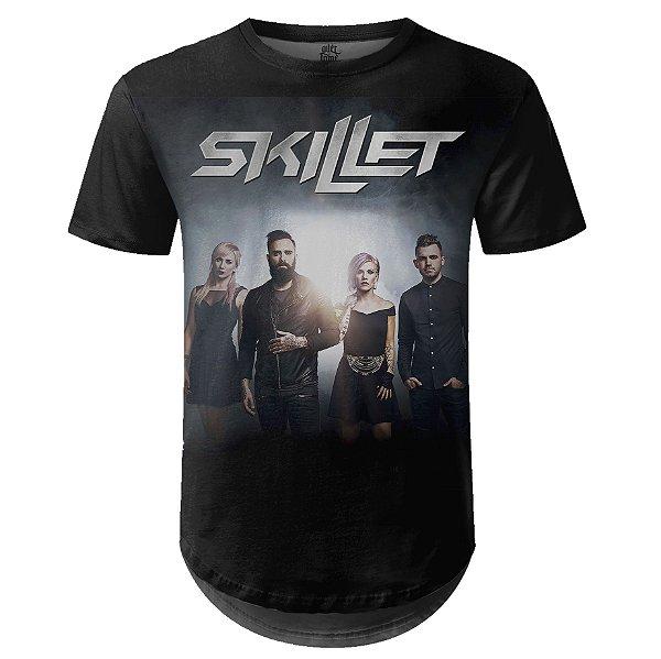 Camiseta Masculina Longline Skillet Estampa digital md01