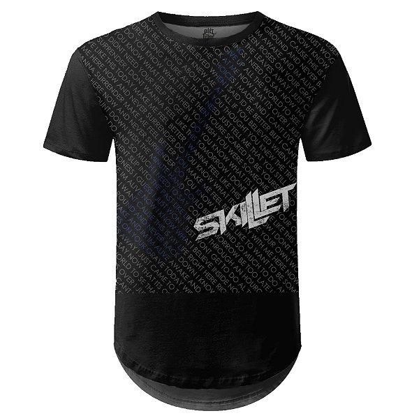 Camiseta Masculina Longline Skillet Estampa digital md02