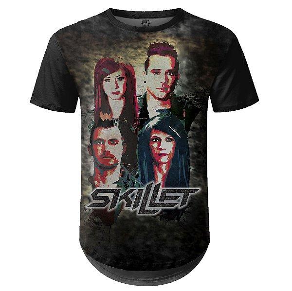 Camiseta Masculina Longline Skillet Estampa digital md03