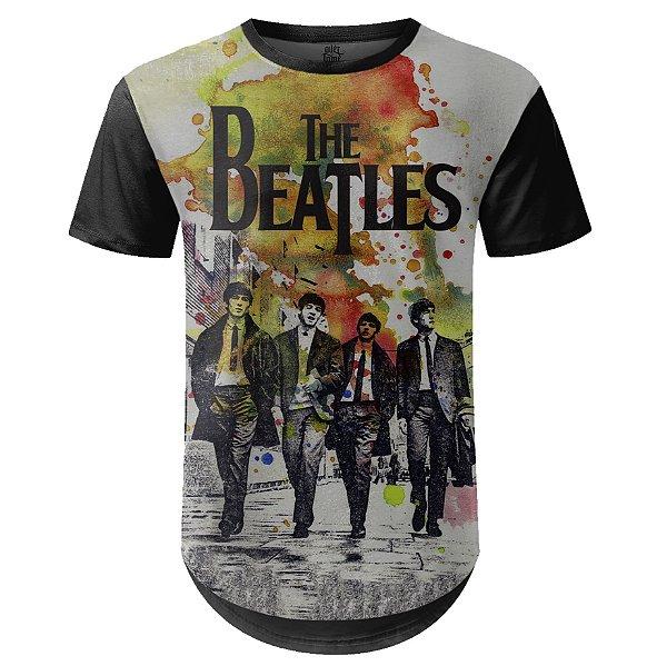 Camiseta Masculina Longline The Beatles Estampa digital md01