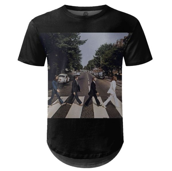 Camiseta Masculina Longline The Beatles Estampa digital md02