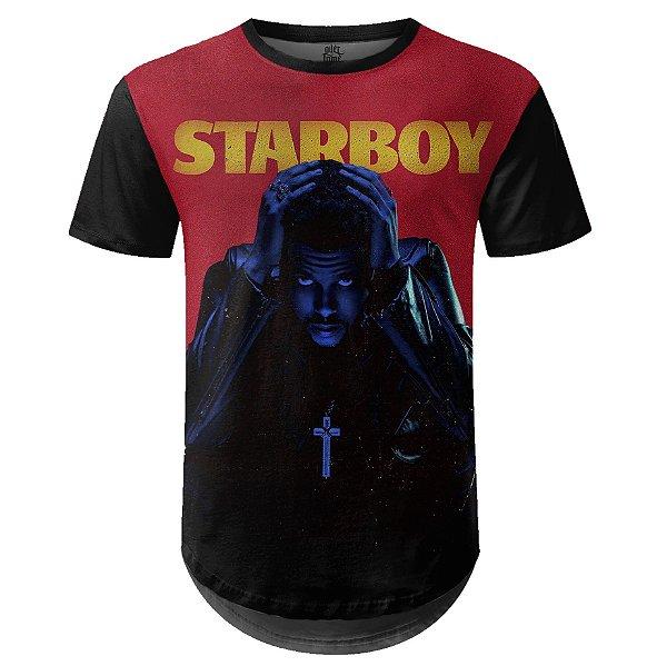 Camiseta Masculina Longline The Weeknd Estampa digital md01