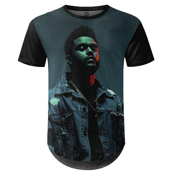 Camiseta Masculina Longline The Weeknd Estampa digital md03