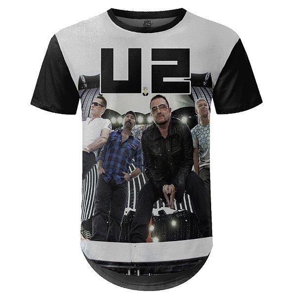 Camiseta Masculina Longline U2 Estampa digital md02