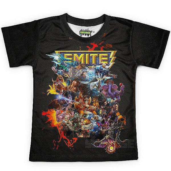 Camiseta Infantil Jogo Smite