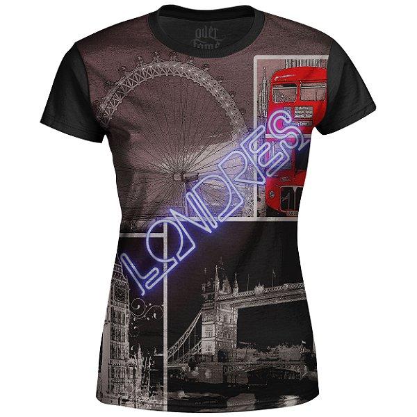 Camiseta Baby Look Feminina Londres Md02