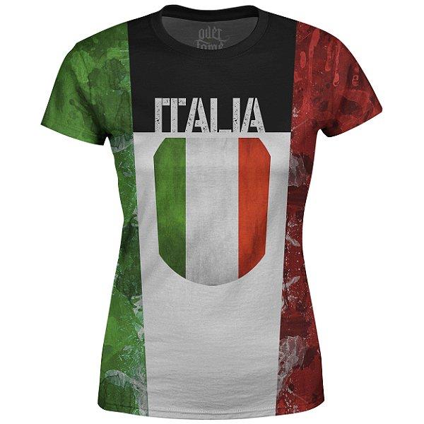 Camiseta Baby Look Feminina Itália md01