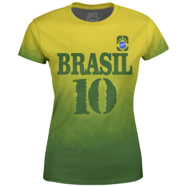 Camiseta Baby Look Feminina Brasil Md04