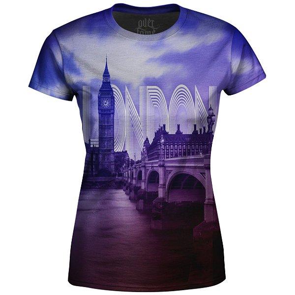 Camiseta Baby Look Feminina Londres Md01