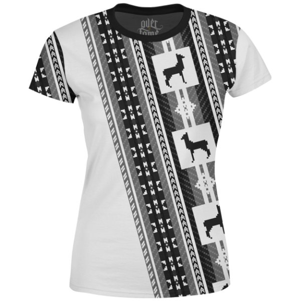 Camiseta Baby Look Étnica Tribal Andes Md03