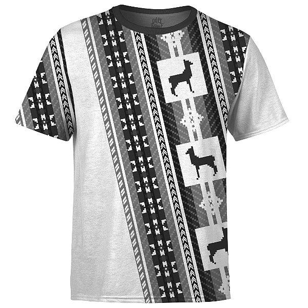 Camiseta Masculina Étnica Tribal Andes Md03