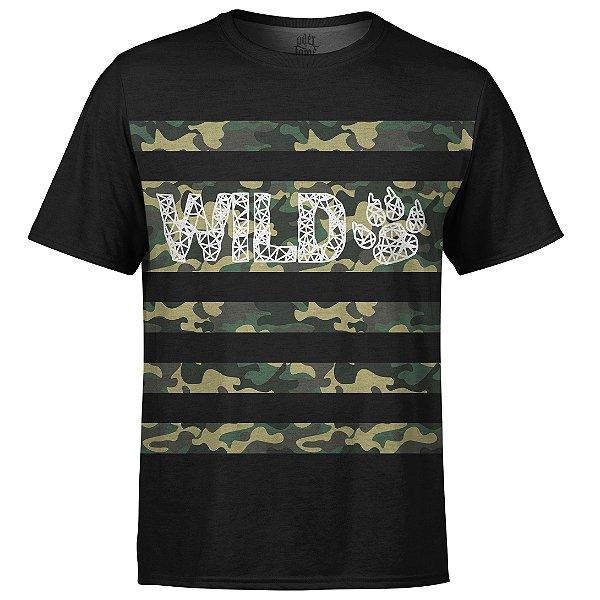 Camiseta Masculina Camuflada Wild Md04
