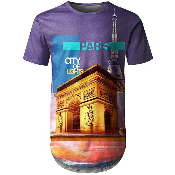 Camiseta Masculina Longline Paris Md02