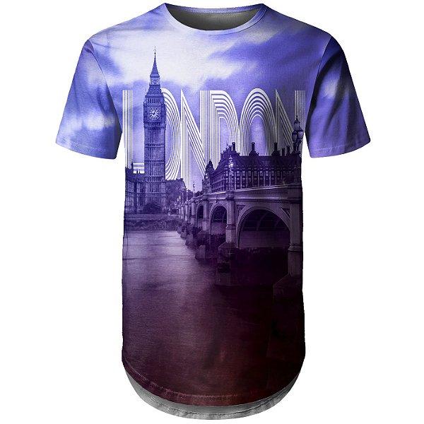 Camiseta Masculina Longline Londres Md01