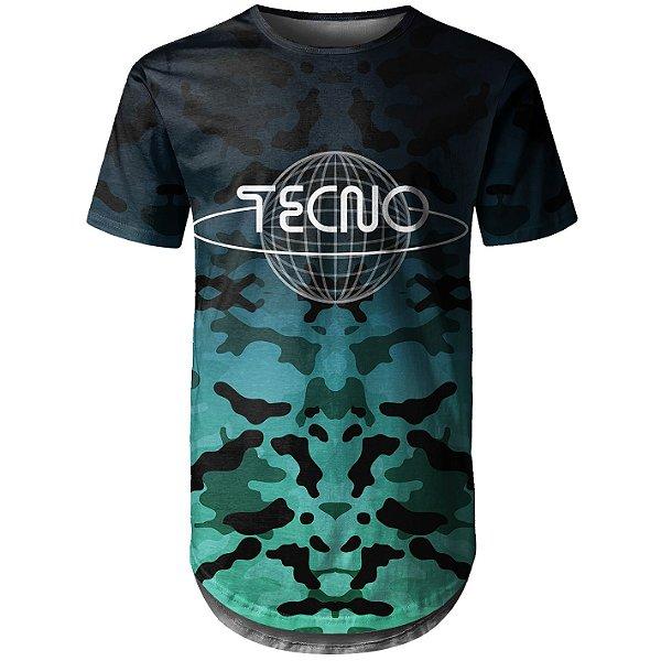 Camiseta Masculina Longline Camuflada Tecno Md05