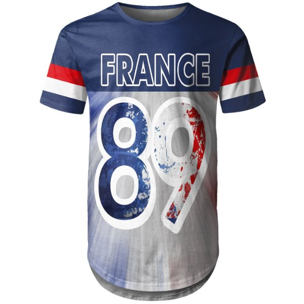 Camiseta Masculina Longline França France md01