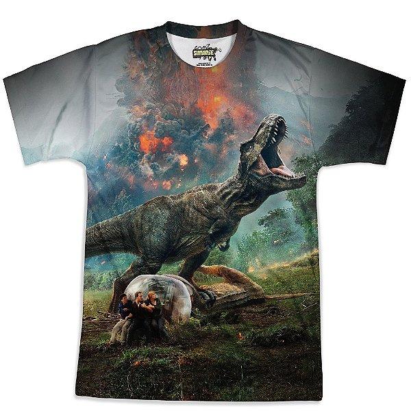 Camiseta Masculina Parque dos Dinossauros Jurassic World Md03 - OUTLET