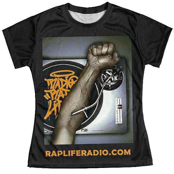 Camiseta Baby Look Feminina Rap Life md07