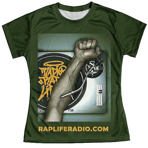 Camiseta Baby Look Feminina Rap Life md03