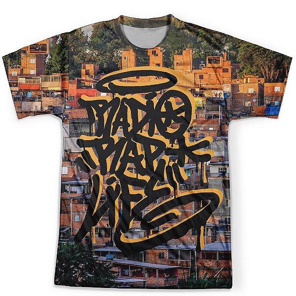 Camiseta Masculina Rap Life md08