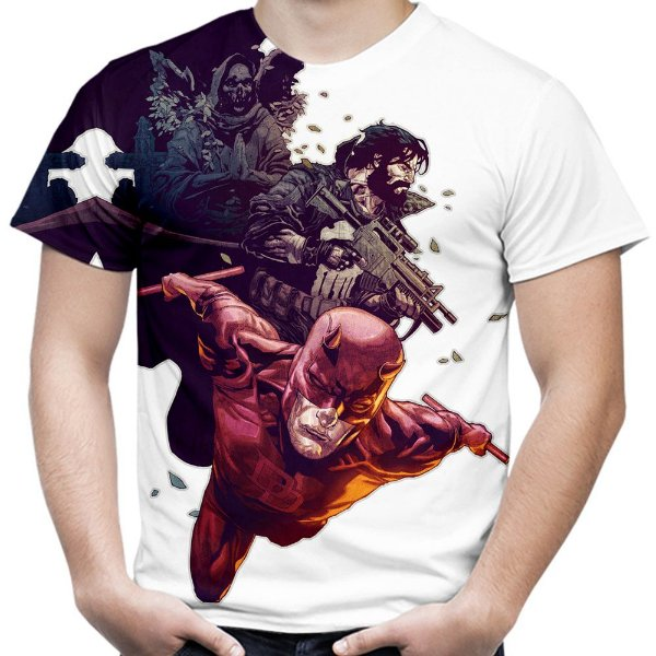 Camiseta Masculina Demolidor Daredevil Estampa Total Md02 - OUTLET