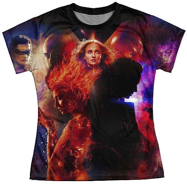 Camiseta Baby look Feminina Fenix Negra X-Men