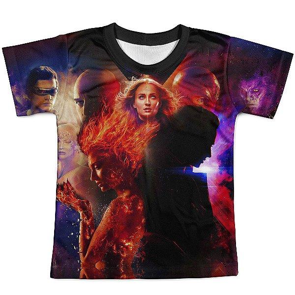 Camiseta Infantil Fenix Negra X-Men