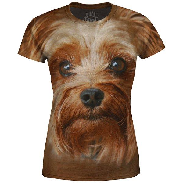 Camiseta Baby Look Feminina Yorkshire Terrier md03