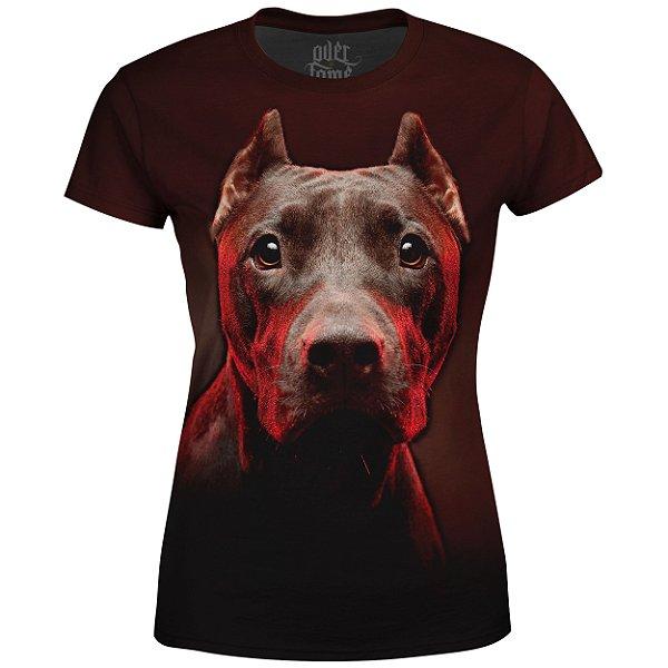 Camiseta Baby Look Feminina Pitbull md01