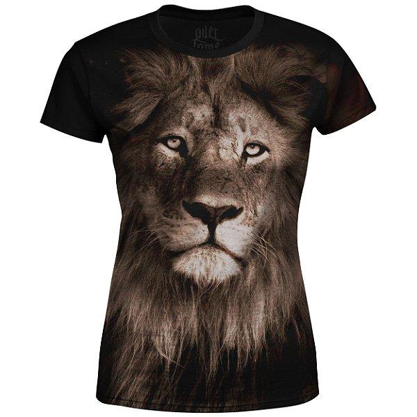 Camiseta Baby Look Feminina Leão  md01