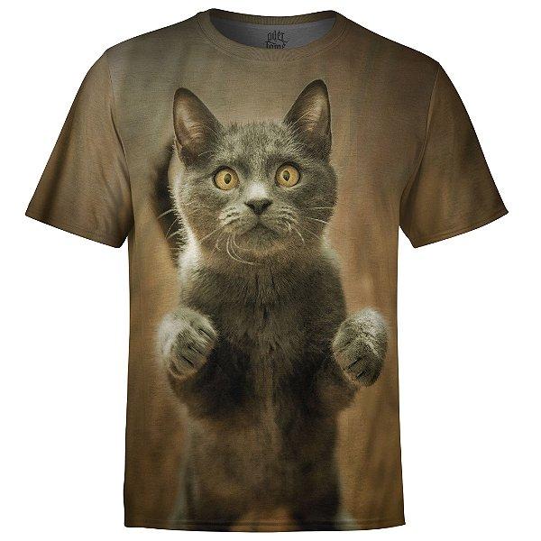 Camiseta Masculina Gato md04