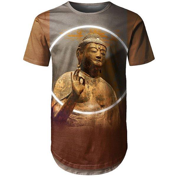 Camiseta Masculina Longline Buda Md01