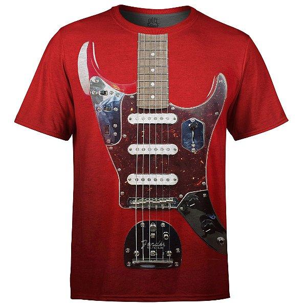 Camiseta Masculina Guitarra Fender md01