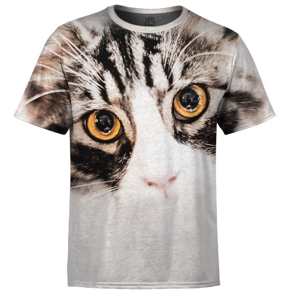 Camiseta Masculina Gato Big Face md06