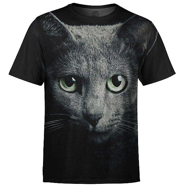 Camiseta Masculina Gato Big Face md05