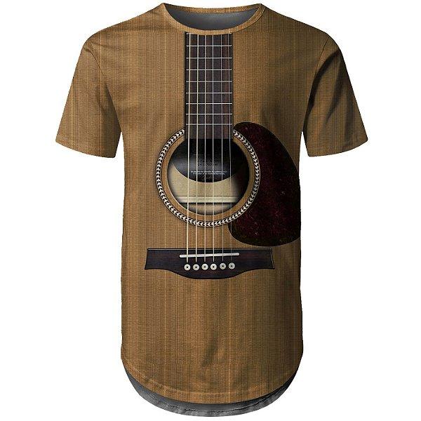 Camiseta Masculina Longline Viola Violão md01