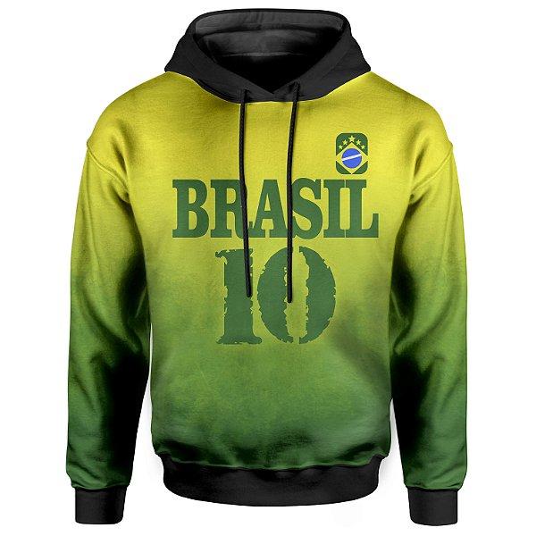 Moletom Com Capuz Unissex Brasil Md04