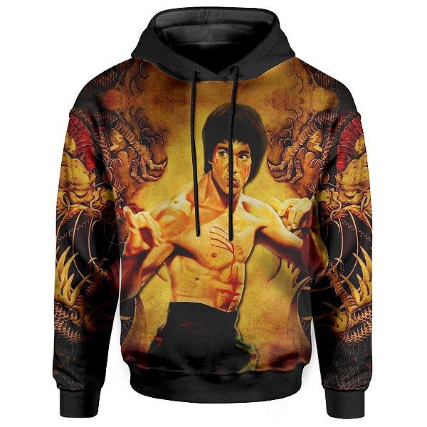 Moletom Com Capuz Unissex Bruce Lee Dragão